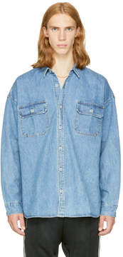 Fear Of God Indigo Oversized Denim Shirt