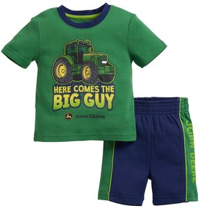 John Deere Baby Boy Here Comes The Big Guy Graphic Tee & Shorts Set