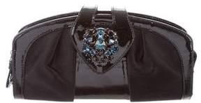 Giuseppe Zanotti Satin Crystal Embellished Clutch