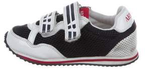 Armani Junior Boys' Mesh Low-Top Sneakers