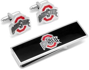 Ice Ohio State University Cufflinks and Money Clip Gift Set