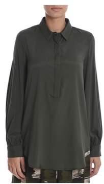 Altea Women's Green Silk Shirt.
