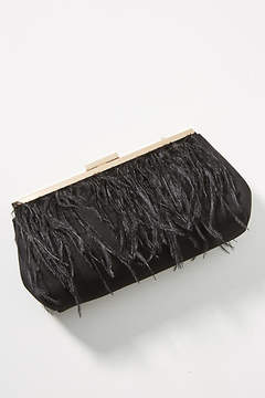 Anthropologie Faux Feather Clutch