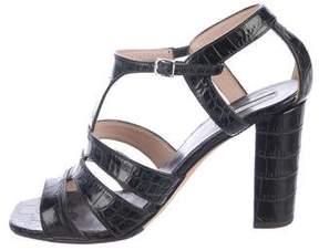Dries Van Noten Embossed Cutout Sandals