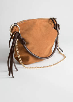 And other stories Suede Hobo Tote Bag
