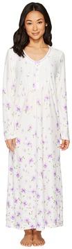 Carole Hochman Border Print Long Gown Women's Pajama