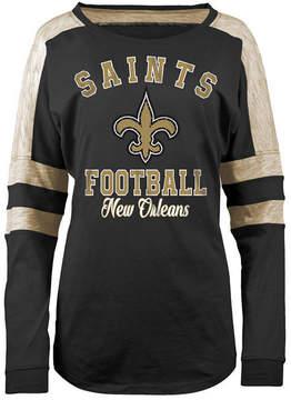 5th & Ocean Women's New Orleans Saints Space Dye Long Sleeve T-Shirt