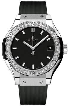 Hublot 581.nx.1171.rx.1104 Classic Fusion Quartz Diamonds Titanium 33mm Mens Watch