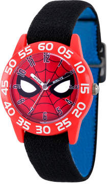 Marvel Spiderman Boys Black Strap Watch-Wma000184