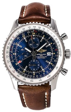 Breitling Navitimer A24322 Stainless Steel / Leather 46mm Mens Watch