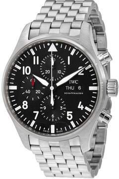 IWC Pilot Automatic Chronograph Black Dial Men's Watch