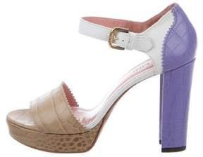 Studio Pollini Embossed Platform Sandals