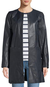 Neiman Marcus Leather Collection Leather Topper Jacket
