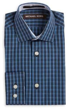 Michael Kors Boy's Plaid Cotton Sportshirt