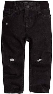 Levi's Baby Boy My First Skinny Distressed Black Jeans