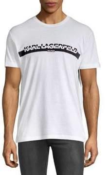 Karl Lagerfeld Paris Graphic Short-Sleeve Cotton Tee