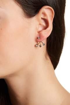BaubleBar Tripod Bezel Set Crystal Jacket Earrings