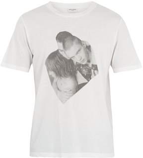 Saint Laurent Boys-print cotton T-shirt