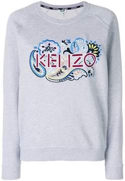 Kenzo paisley embroidered logo sweatshirt