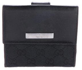 Gucci GG Canvas French Purse Wallet - BLACK - STYLE