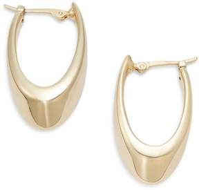 Saks Fifth Avenue Women's 14K Yellow Gold Medium Visor Hoop Earrings/1.25