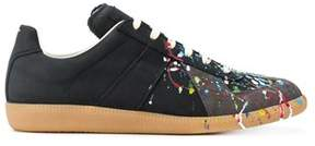 Maison Margiela Men's Black Leather Sneakers.