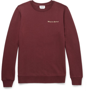 A.P.C. Embroidered Loopback Cotton-Jersey Sweatshirt