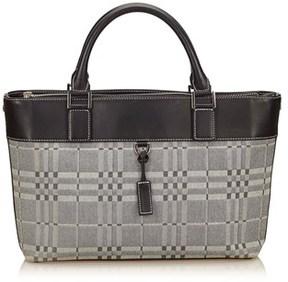Burberry Pre-owned: Patterned Jacquard Handbag. - GRAY X BLACK - STYLE