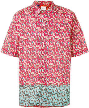 Paul Smith contrast panel floral shirt