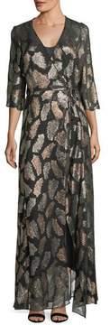 Forte Forte Fil Coupe Desert Leaf Wrap Dress