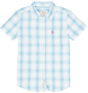 Original Penguin Boys Plaid Woven Shirt