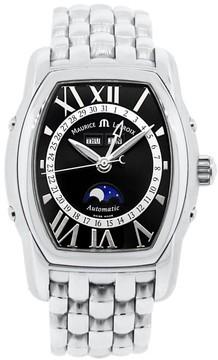 Maurice Lacroix Masterpiece Phase de Lune Tonneau 6439 Stainless Steel Automatic 39.5mm Mens Watch