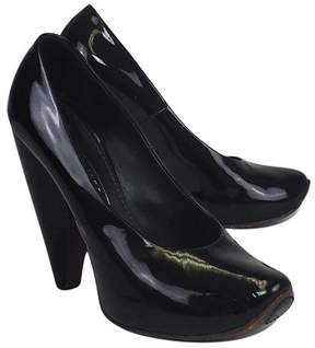 Marc Jacobs Black Chunky Patent Leather Heels