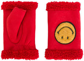 Agnelle Happy Smiley Face fingerless gloves