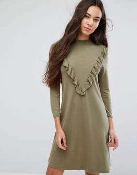 B.young Ruffle High Neck Dress