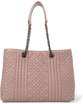 Bottega Veneta - Shopper Large Intrecciato Leather Tote - Blush