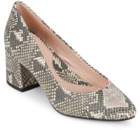 Taryn Rose Rochelle Snake Print Leather Pumps