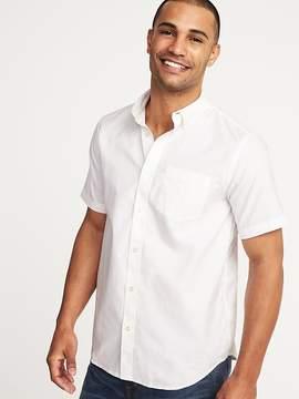 Old Navy Regular-Fit Clean-Slate Oxford Shirt For Men