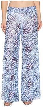 Letarte Printed Mesh Pants Women's Swimwear