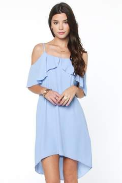 Everly Ready For Ruffles Cold Shoulder Shift Dress