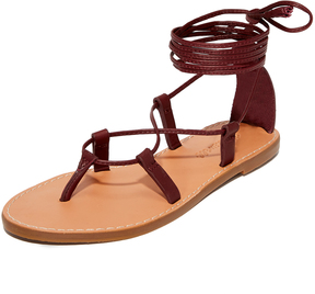 Madewell Boardwalk Lace Up Gladiator Sandals