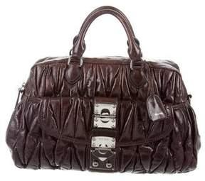 Miu Miu Matelassé Pleated Leather Bag
