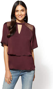 New York & Co. Tiered Keyhole Blouse