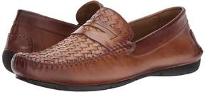 Matteo Massimo Woven Vamp Penny Men's Slip-on Dress Shoes