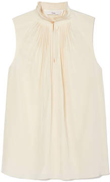 Tibi Arielle Silk Sleeveless Top