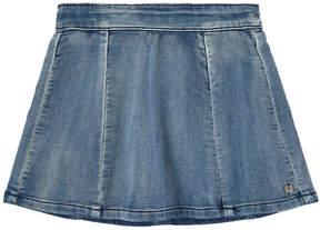 3 Pommes Denim effect fleece skirt