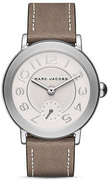 Marc Jacobs Riley Leather Strap Watch, 36mm