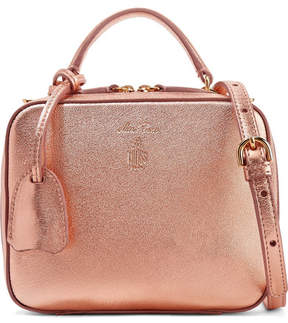 Mark Cross Baby Laura Metallic Textured-leather Shoulder Bag - Pink