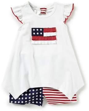 Bonnie Jean Little Girls 2T-6X Americana Short Set