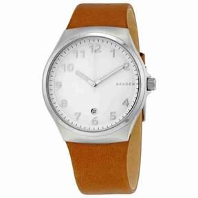 Skagen Sundby White Dial Brown Leather Men's Watch SKW6269